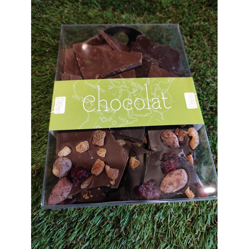 Boite Plaques de chocolat - Noir Lait