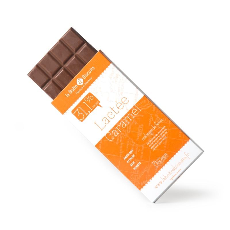 Tablettes 100 gr lactée caramel
