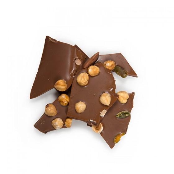 Plaque chocolat lactée supérieure